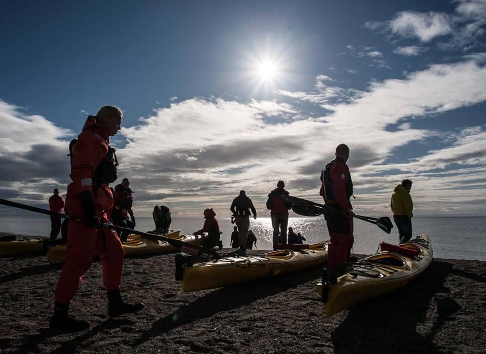 Préparations des kayaks